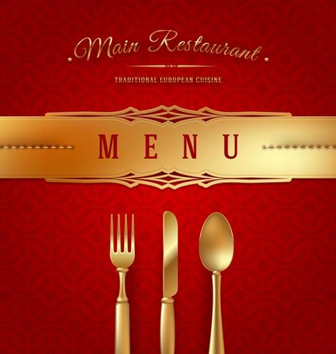 Italian Restaurant Logo With Flag: Restaurant Wooden Sign And Menu Cover Vectors