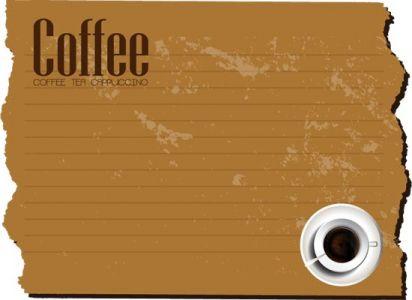 Retro coffe envelopes and letterheads vectors