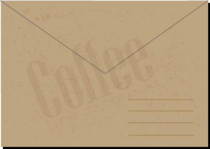 Retro coffe envelopes and letterheads vectors