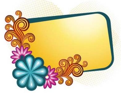 Retro flowers frame