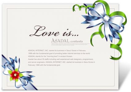 Ribbons design on cards or invitations vector