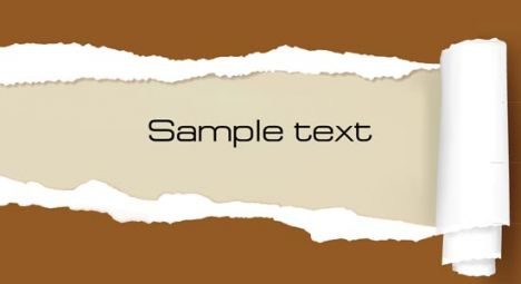 Ripped paper template vector
