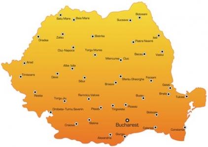 Romania vector map