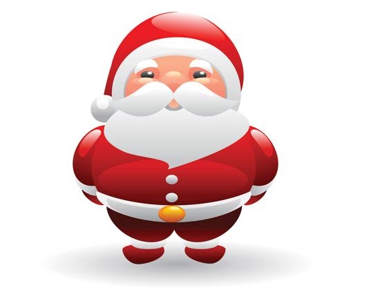 Santa Claus and snowman vector clipart