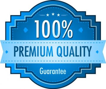 Satisfaction guarantee blue vector labels
