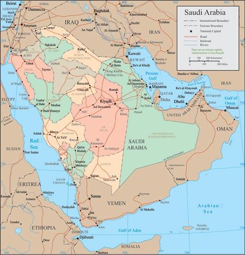 Saudi Arabia vector maps