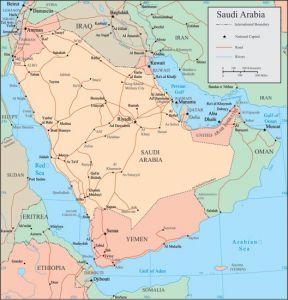 Saudi Arabia vector map
