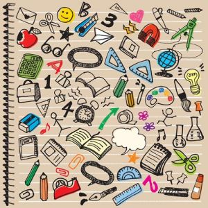 school education vector icons