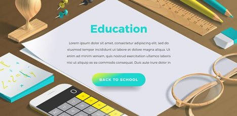 Mockup scenes on education theme.,Mockup scenes on education theme.