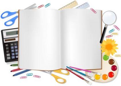 School supplies vectors