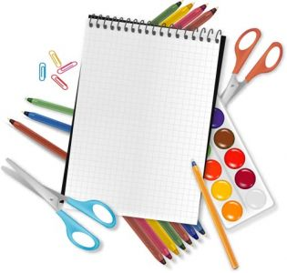 School supplies vectors design