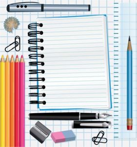 School supplies vectors template
