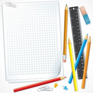 School supplies vectors layout