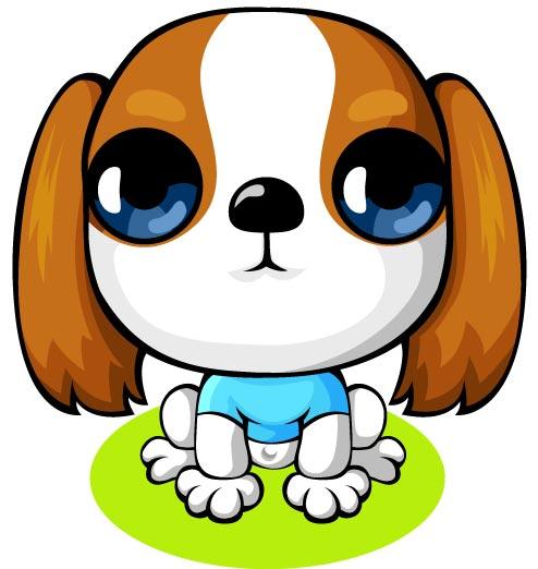 scottish terrier puppy cartoon dog vector rh vector eps com cute cartoon puppies with big eyes Dogs with Big Eyes