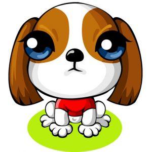 Scottish Terrier puppy cartoon dog vector