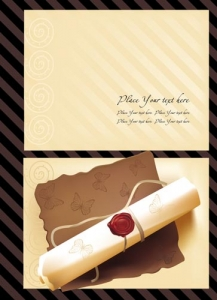 Scroll paper background