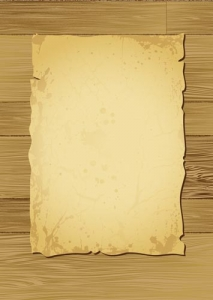 Scroll paper template