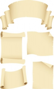 Scroll paper model