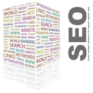 SEO word collage vector