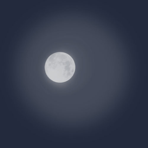 Shining moon Photoshop brush