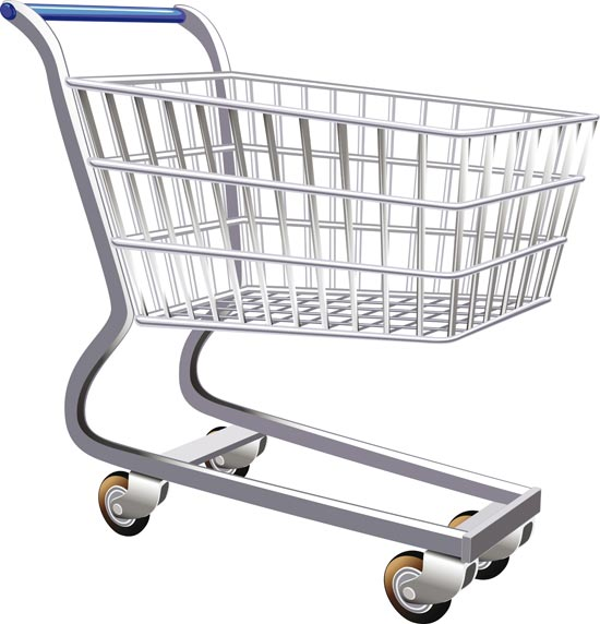 Vector Clipart Shopping Basket : Ping trolley vectors