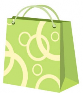 Shopping vector label