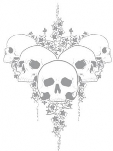Skull t-shirt vector design