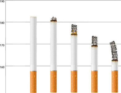 Smoking and no-smoking vector ciggarettes