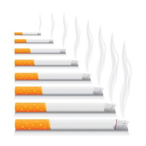 Smoking and no-smoking vector ciggarettes