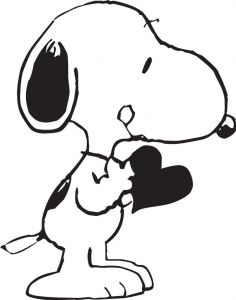 Snoopy dog vector sketches