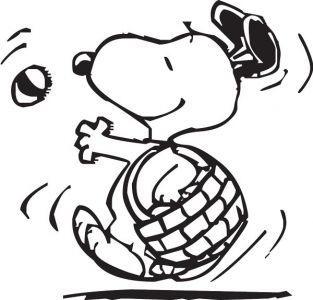 Snoopy dog vector sketches