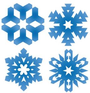 Snowflake pattern shape template