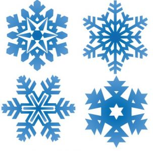 Snowflake pattern shape vector