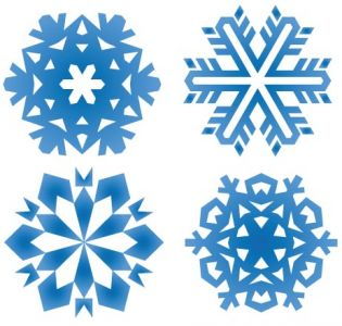 Snowflake pattern shape design