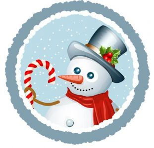 Snowman vector card template