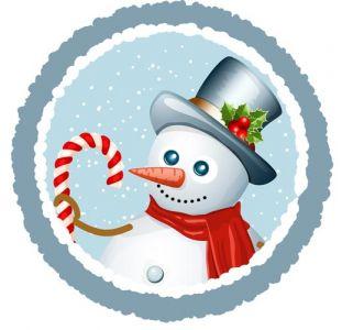 Snowman vector card template
