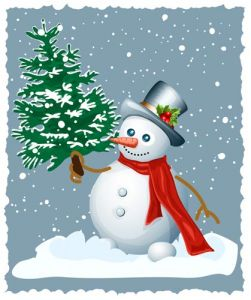 Snowman vector card design