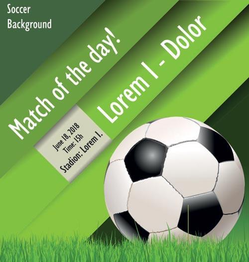 Soccer Poster Vector Illustration Design