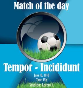 Soccer poster vector illustration template
