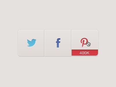 Social media buttons PSD design