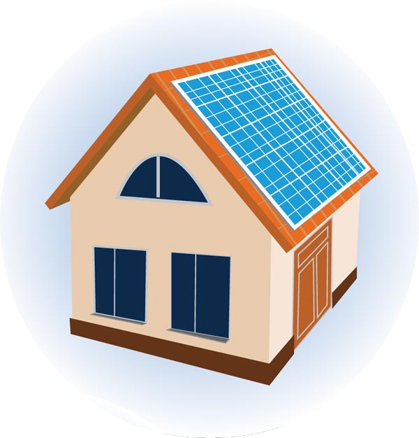 Solar panels vectors design for Solar energy house designs