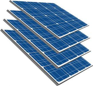 Solar panels vectors design