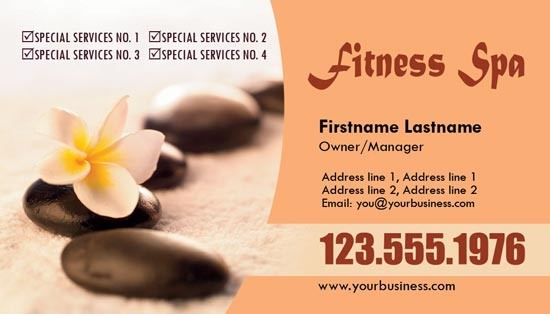 spa business cards for photoshop - Spa Business Cards