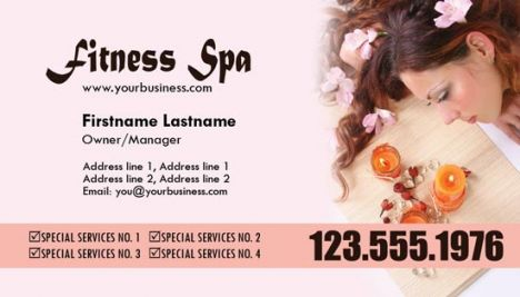 Spa business cards for Photoshop