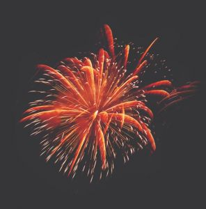 Sparkling fireworks for Illustrator and Photoshop