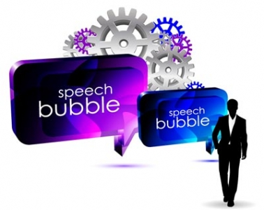 Speech bubble vector template