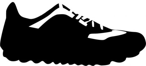 Sport shoes vector shapes