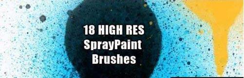 Spray paint photoshop brush