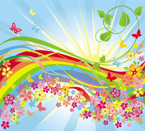 Spring Backgrounds In Vector Format
