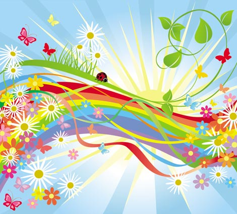 Background Vector Free Download on Vector Spring Backgrounds Eps     Mirror